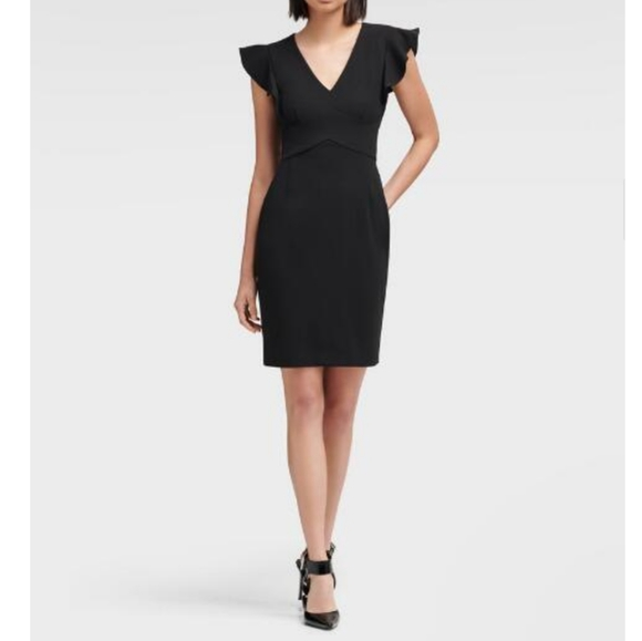 DKNY Dresses & Skirts - DKNY | Sheath Dress With Ruffle Sleeve
